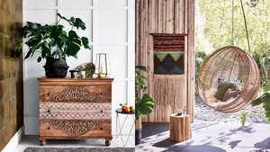 Master a glamorous, eclectic look for your home this summer with 15 interior buys. Images by Monsoon Home and Woo Design.