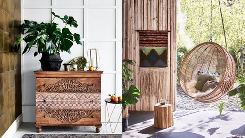 Master aglamorous, eclectic look for your home this summer with 15 interior buys. Images by Monsoon Home and Woo Design.