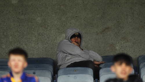 Offaly manager Stephen Wallace is currently serving an eight-week suspension, and sat alone in the stands watching the defeat to Wicklow