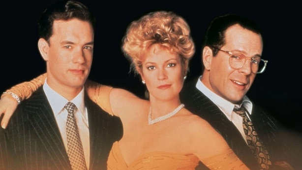 Tom Hanks Melanie Griffith and Bruce Willis in The Bonfire of the Vanities