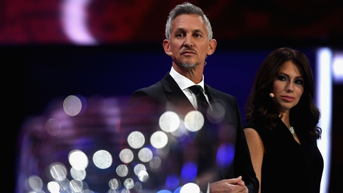 Gary Lineker at the World Cup draw in Moscow