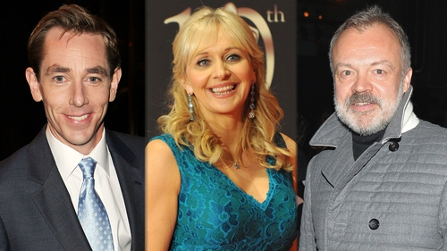 Ryan Tubridy, Miriam O'Callaghan and Graham Norton are all on the shortlist