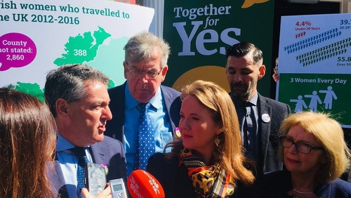 The group were speaking at Together for Yes headquarters in Dublin