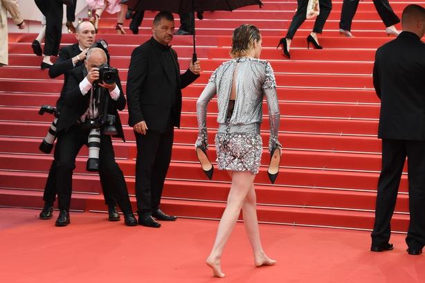 Jury member Kristen Stewart attends the screening of 'BlacKkKlansman'