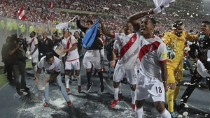 Peru celebrate their victory over New Zealand that saw them end a 36-year World Cup qualification wait