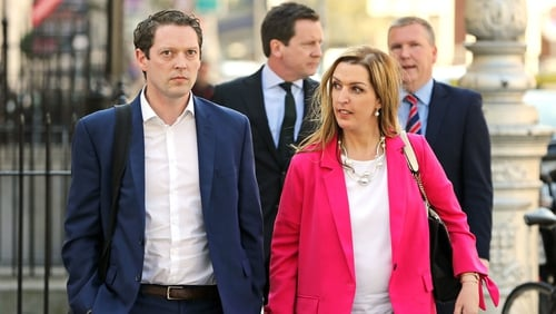 Vicky Phelan and Stephen Teap arriving at Leinster House