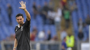 Time to say goodbye - Buffon waves farewell
