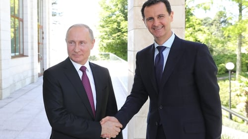 Syrian President holds meeting with Russian President class=