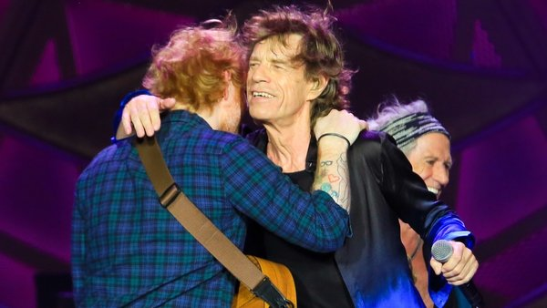Ed Sheeran toured with the Rolling Stones in 2015