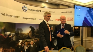 Independent News & Media's CEO Michael Doorly (l)  and chairman Murdoch MacLennan