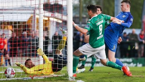 Graham Cummins finds the net for Cork