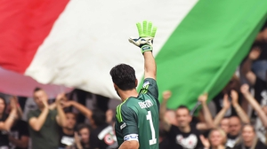 Gianluigi Buffon makes his exit