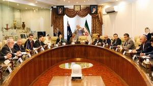 EU and Iranian officials at the talks in Tehran