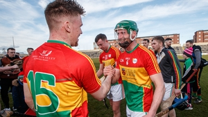 Chris Nolan (L) was the hero for Carlow