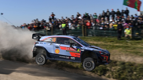 Thierry Neuville held on to take the Rally Portugal