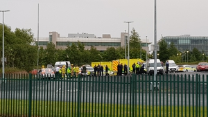 The man was shot in the Cherrywood area in south Dublin