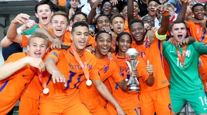 The Netherlands celebrate their triumph