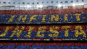 The Nou Camp says farewell to Andres Iniesta