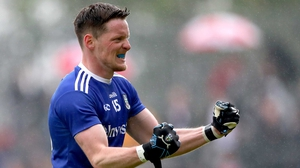 McManus celebrating one of his many scores for Monaghan this year