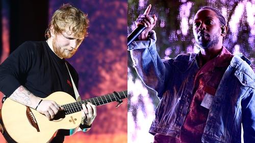 Ed Sheeran and Kendrick Lamar - The big winners on the night