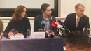 Rhona Mahony, Simon Harris and Fergal Malone held a joint conference calling for a Yes vote in the referendum