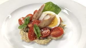 Rory's Smoked Mackerel 'Tonnato' with Heritage Tomatoes, Basil & Hen's Egg