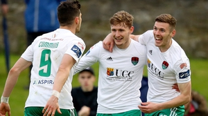 Garry Buckley (R) scored twice at Limerick