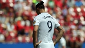 Zlatan Ibrahimovic was sent off against Montreal Impact