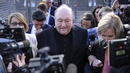 Archbishop Philip Wilson leaves court after being found guilty on four charges of concealing child sexual abuse during the 1970's