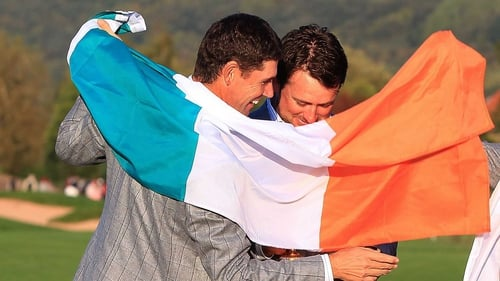 Padraig Harrington (L) and Graeme McDowell