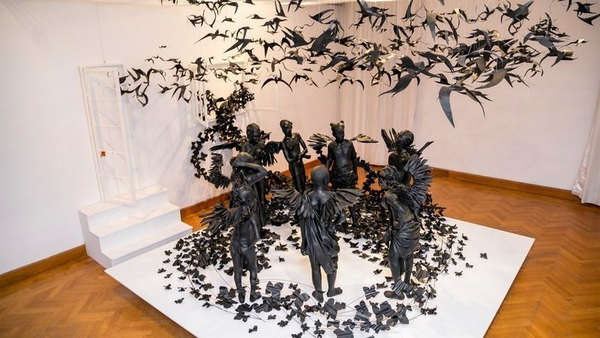 EVA International 2018: Peju Alatise's Flying Girls (2016). Photo: Ibeabuchi Benson, courtesy of the artist