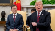 South Korean leader Moon Jae-in met with Donald Trump at the White House