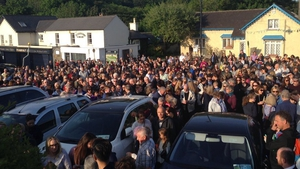 People gathered in Enniskerry to remember Jastine Valdez
