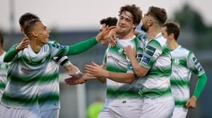 Sam Bone celebrates as Shamrock Rovers hit form at Tallaght Stadium