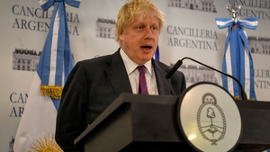 Boris Johnson made the call during a visit to Argentina