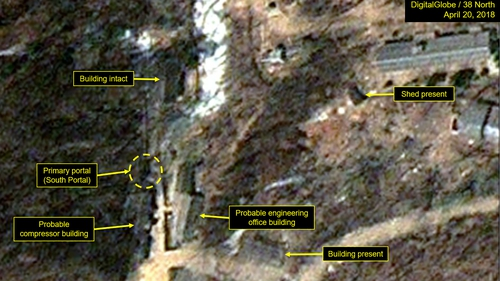 Punggye-ri test facility reported to be dismantled