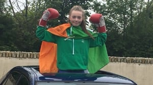 13-year-old Brenda Collins has won her first national boxing title