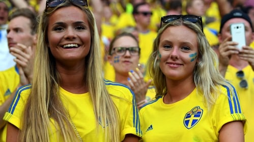 Sweden fans always bring a dash of colour to the proceedings
