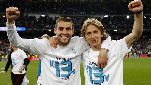 Mateo Kovacic and Luka Modric