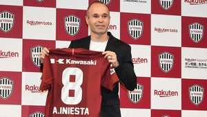 Andres Iniesta has joined J.League outfit Vissel Kobe