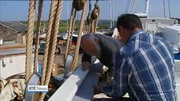 One News (Web): Ireland's last-surviving wooden, ocean-going sailing ship re-launched