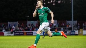 Kieran Sadlier celebrates his second goal for Cork
