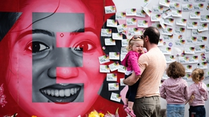 The mural of Savita Halappanavar became a focal point for supporters of a Yes vote