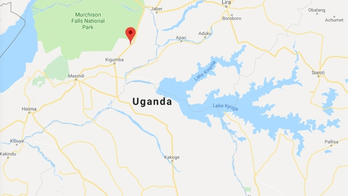 The accident happened last night in Kiryandongo (Pic: Google Maps)