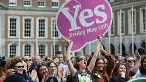 Yes supporters gather at Dublin Castle