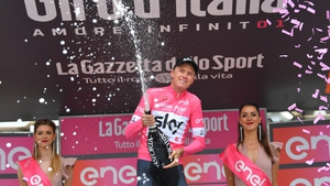 Chris Froome retained the leader's pink jersey after stage 20.