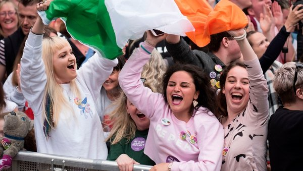 Crowds turned up at Dublin Castle today to hear the final result