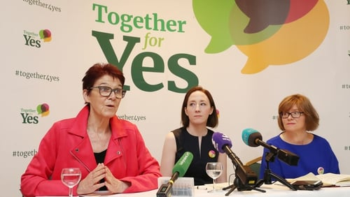 Co-Directors of Together For Yes (left to right) Ailbhe Smyth, Grainne Griffin and Orla O'Connor