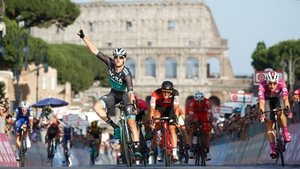 Sam Bennett celebrates in Rome