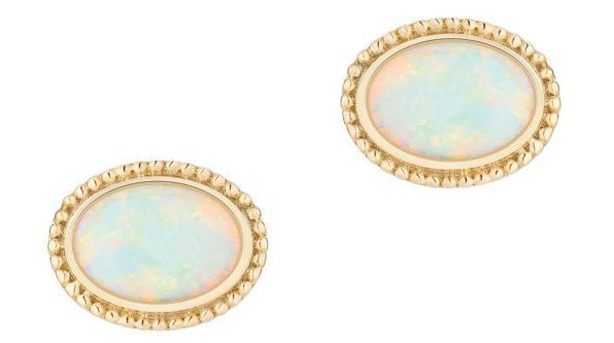 The Birks earrings Meghan wore for her engagement announcement (GoldsmithsPA)